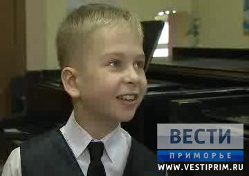 滨海边疆区青年钢琴家SOLODSKIY•VANYA举行个人音乐会