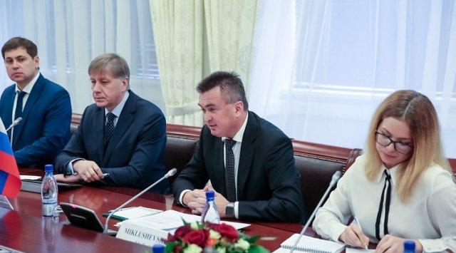 弗拉基米尔·米克卢舍夫斯基会见了黑龙江省省长。