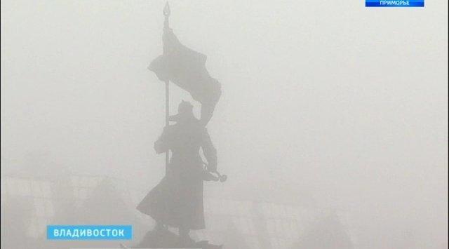 12月1日早上符拉迪沃斯托克居民看到了自然界不常有的现象