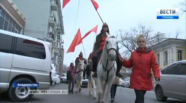 符拉迪沃斯托克纪念伟大的十月社会主义革命100周年