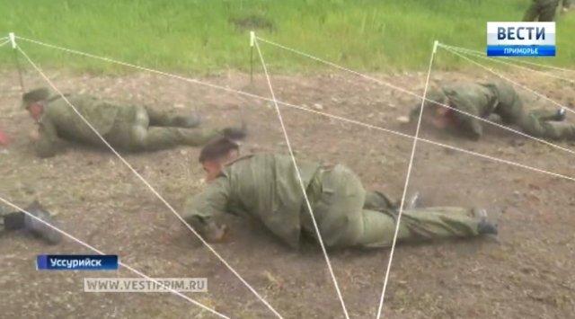 在滨海边疆区结束军校学员比赛