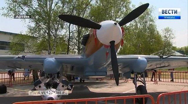 滨海边疆区工匠恢复了攻击机IL-2